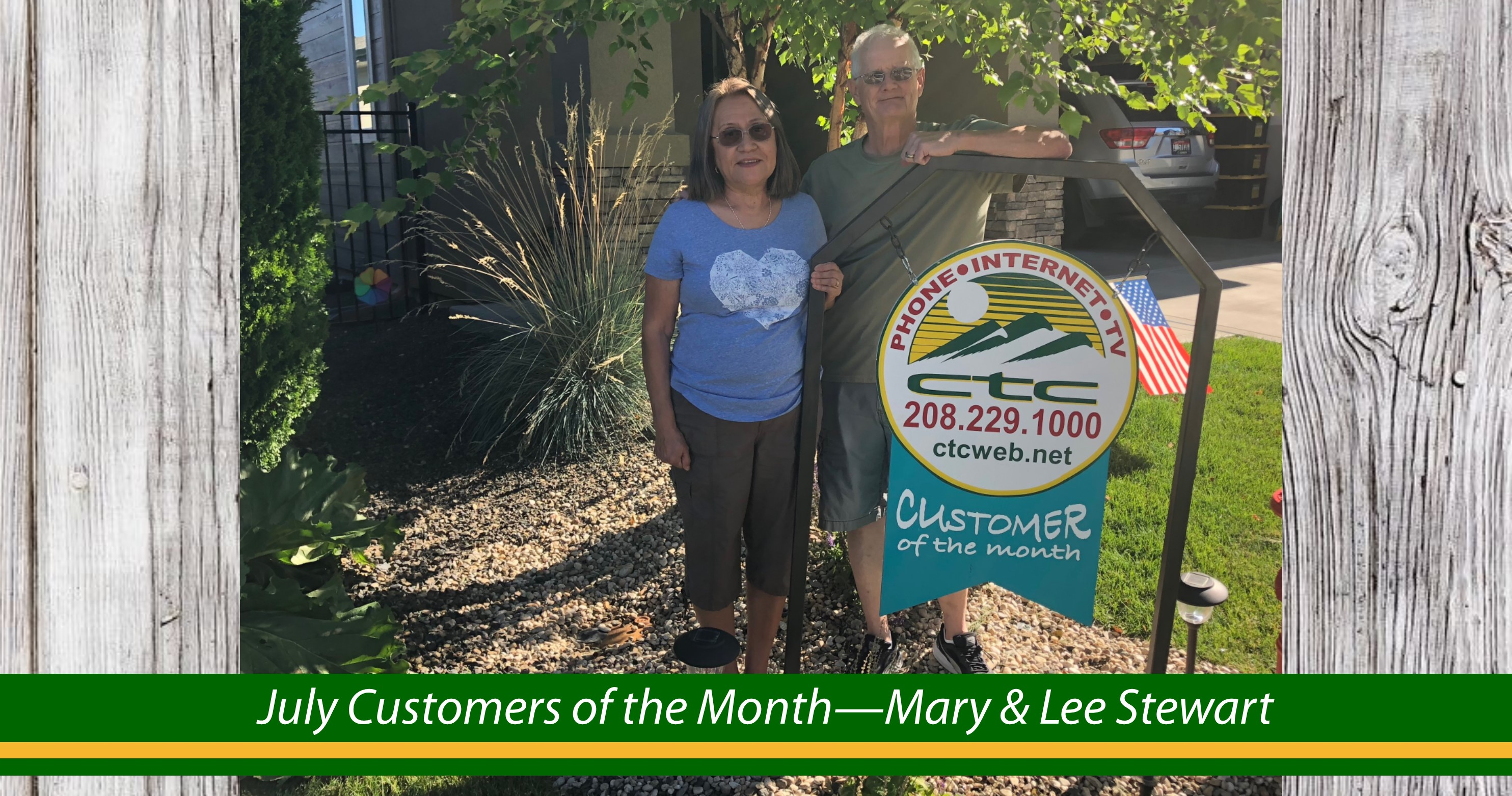 Customer of the Month July
