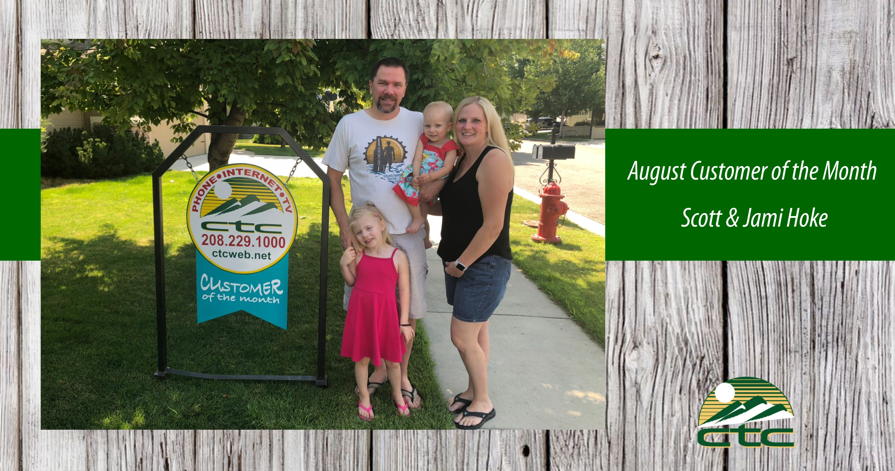 August Customers of the Month