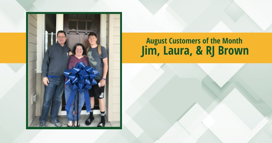August Customer of the Month